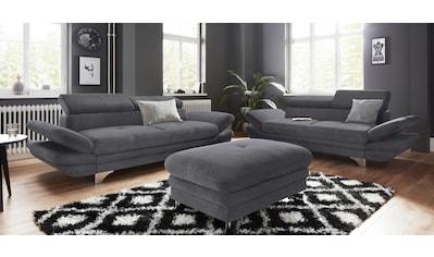 COTTA Polstergarnitur, (Set), Set: bestehend aus 2-Sitzer und Hocker, Sofa inklusive... kaufen