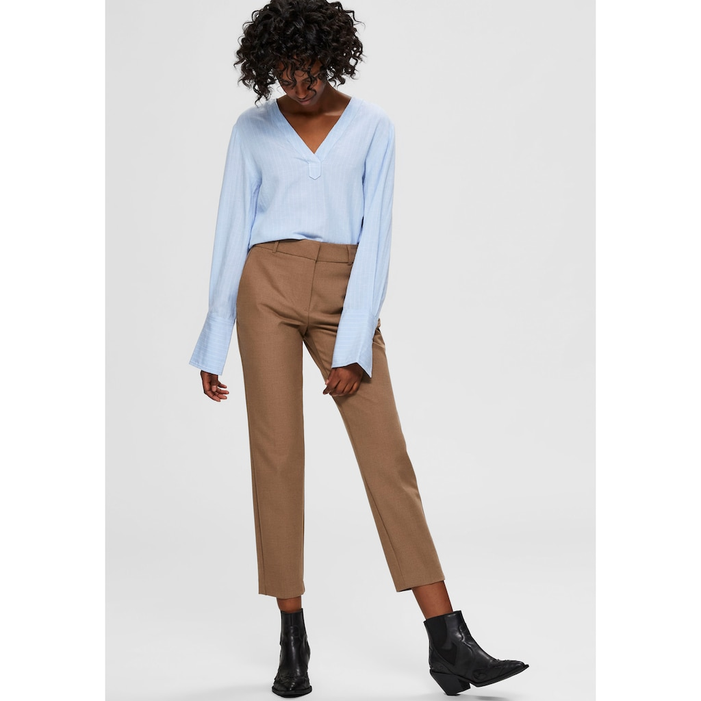 SELECTED FEMME Anzughose, in stylisher Cropped-Länge