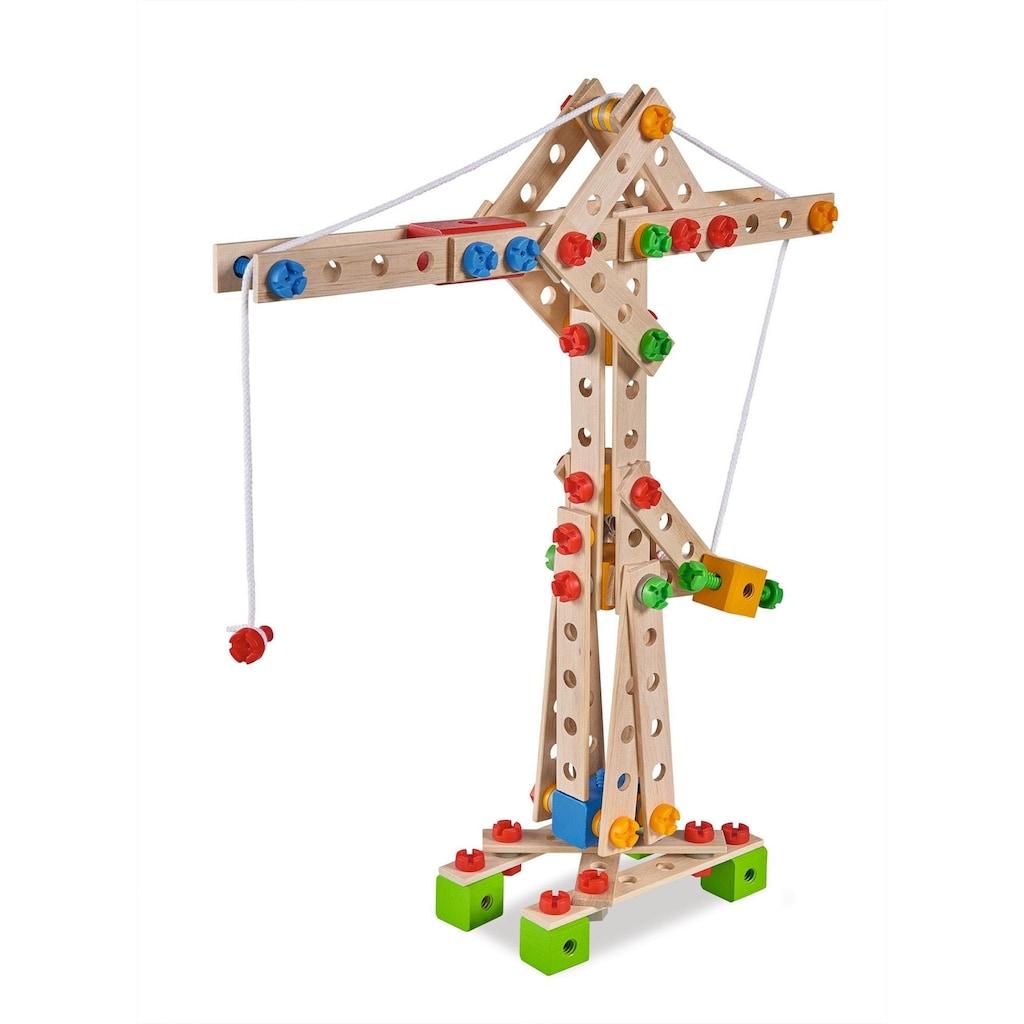 Eichhorn Konstruktionsspielsteine »Constructor, Kran«, (170 St.), Made in Germany, FSC®-Holz aus gewissenhaft bewirtschafteten Wäldern