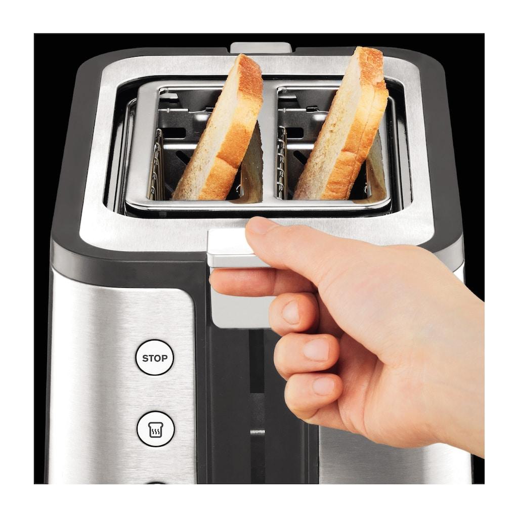 Krups Toaster »KH442«, 2 kurze Schlitze, für 2 Scheiben, 850 W, 6 Bräunungsstufen