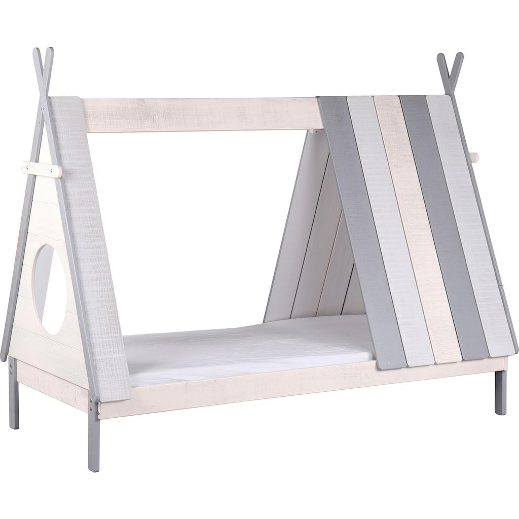 Lüttenhütt Hausbett »Drollig«, Kinderbett in skandinavischem Look