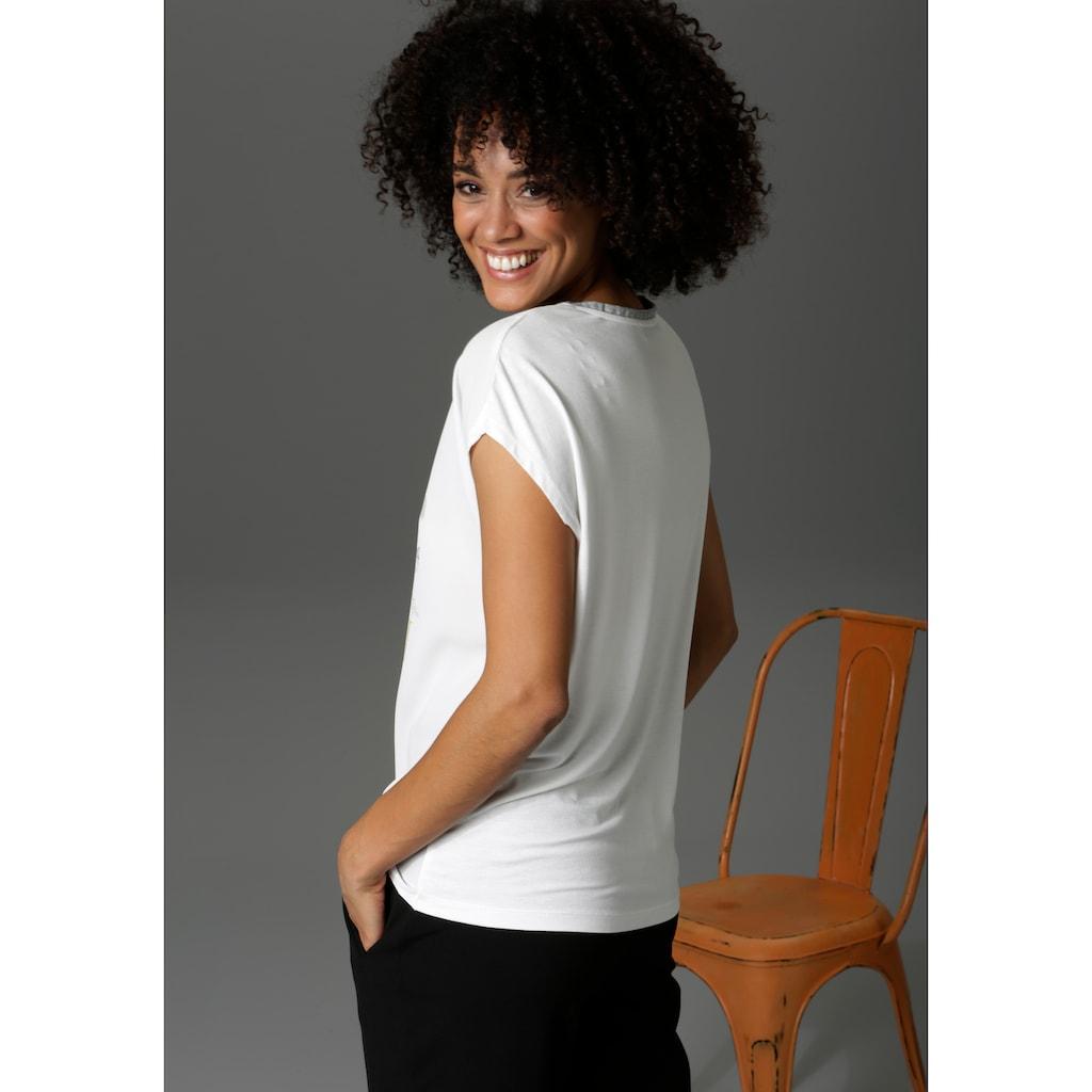 Aniston CASUAL T-Shirt, mit Schriftzug