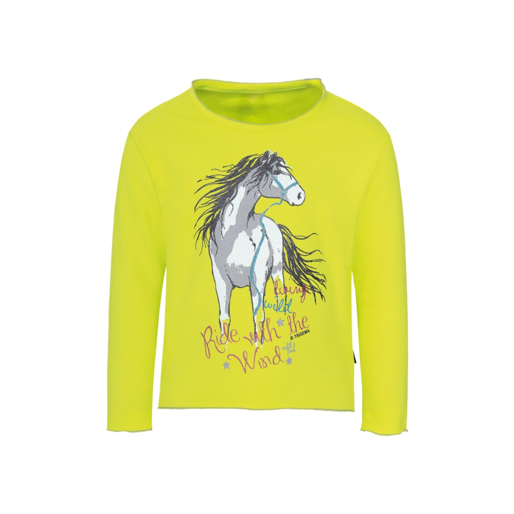 Trigema Sweatshirt, mit Pferdemotiv für Mädchen