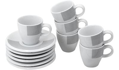 Retsch Arzberg Espressotasse »Novo Ultra«, (Set, 12 tlg.), 6 Tassen, 6 Untertassen kaufen