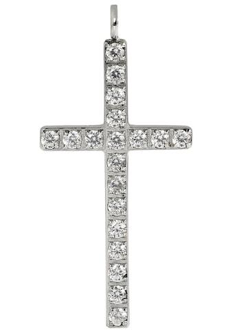 Firetti Kettenanhänger »Kreuz, Glaube, glänzend, massiv«, mit Zirkonia, Made in Germany kaufen