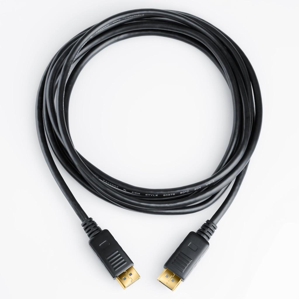 CSL DisplayPort Monitorkabel / Auflösung bis zu 4k UHD »DisplayPort zu DisplayPort Stecker«