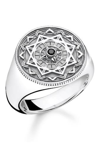 "THOMAS SABO Diamantring »Ring ""Vintage Kompass silber"", D_TR0041 - 714 - 11 - 48, 50, 52, 54, 56, 58, 60, 62, 64, 66, 68« kaufen"
