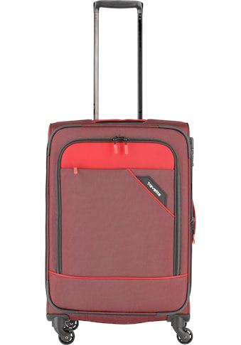 """travelite Weichgepäck - Trolley """"Derby, 66 cm, rot"""", 4 Rollen kaufen"""