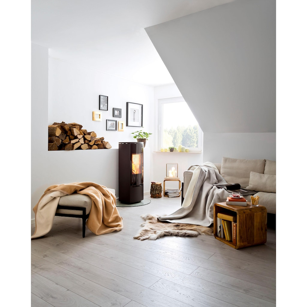 BIEDERLACK Wohndecke »Luxury«, mit Samtband