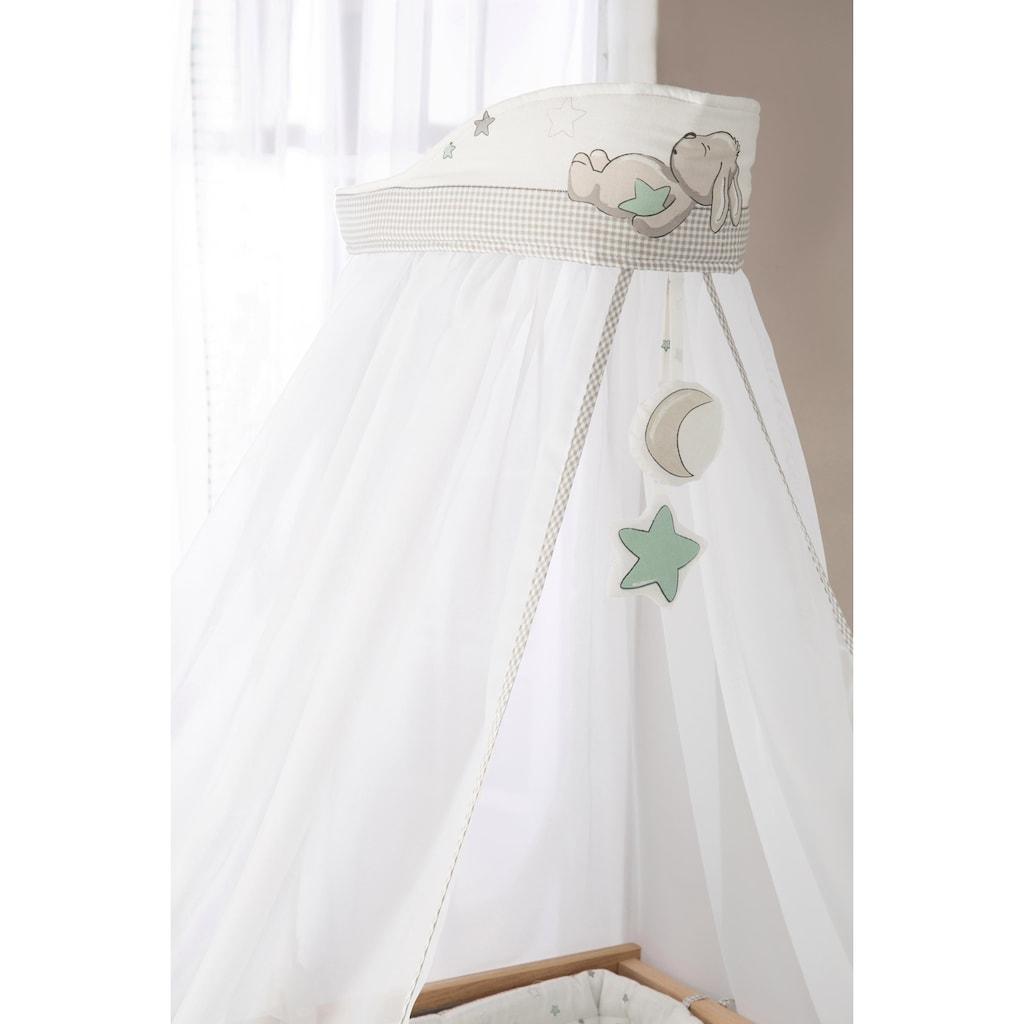 roba® Himmelbettgarnitur »Sternenzauber«, 4-tlg., mit Bettwäsche, Nestchen und Himmel