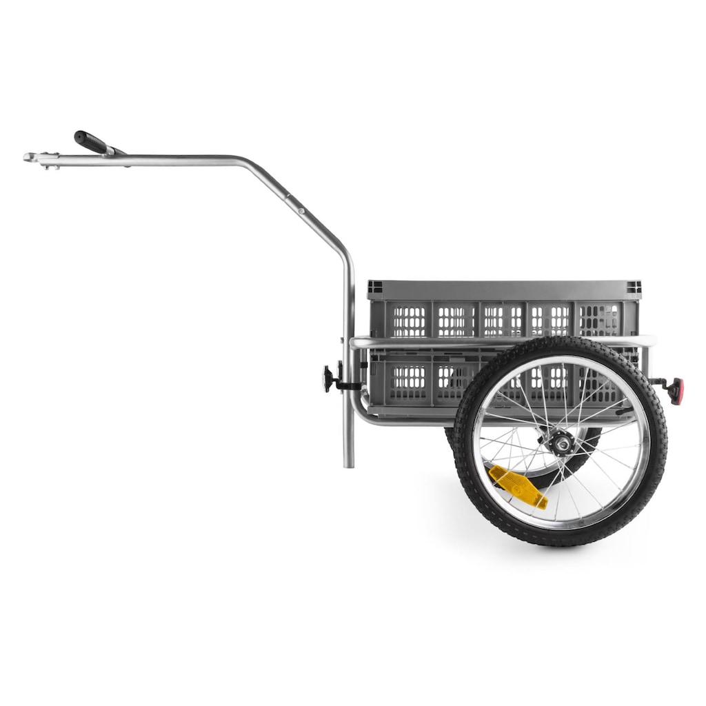 Duramaxx Fahrradanhänger Handwagen Hochdeichsel 40l 40kg grau