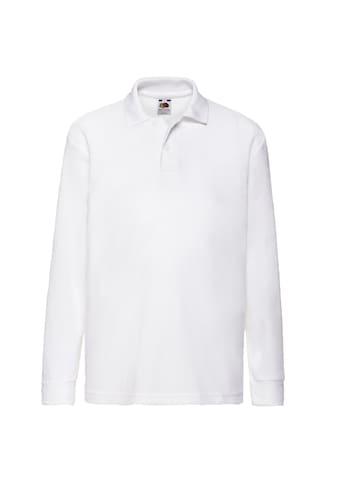 Fruit of the Loom Poloshirt »Kinder Polo Shirt, Langarm« kaufen