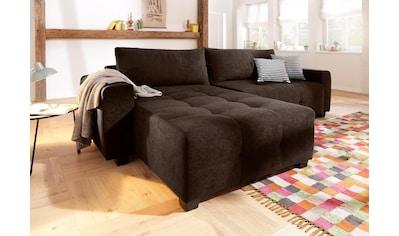 Home affaire Ecksofa »Bella«, wahlweise mit Bettfunktion und Bettkasten, Steppung im... kaufen