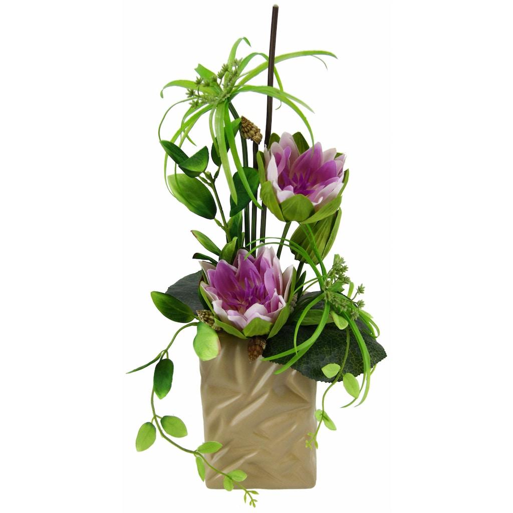 I.GE.A. Kunstpflanze »Seerose«
