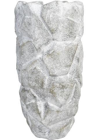 GILDE Pflanzkübel »Pflanzkübel Rock, grau«, (1 St.), Blumenkübel, Pflanzübertopf,... kaufen