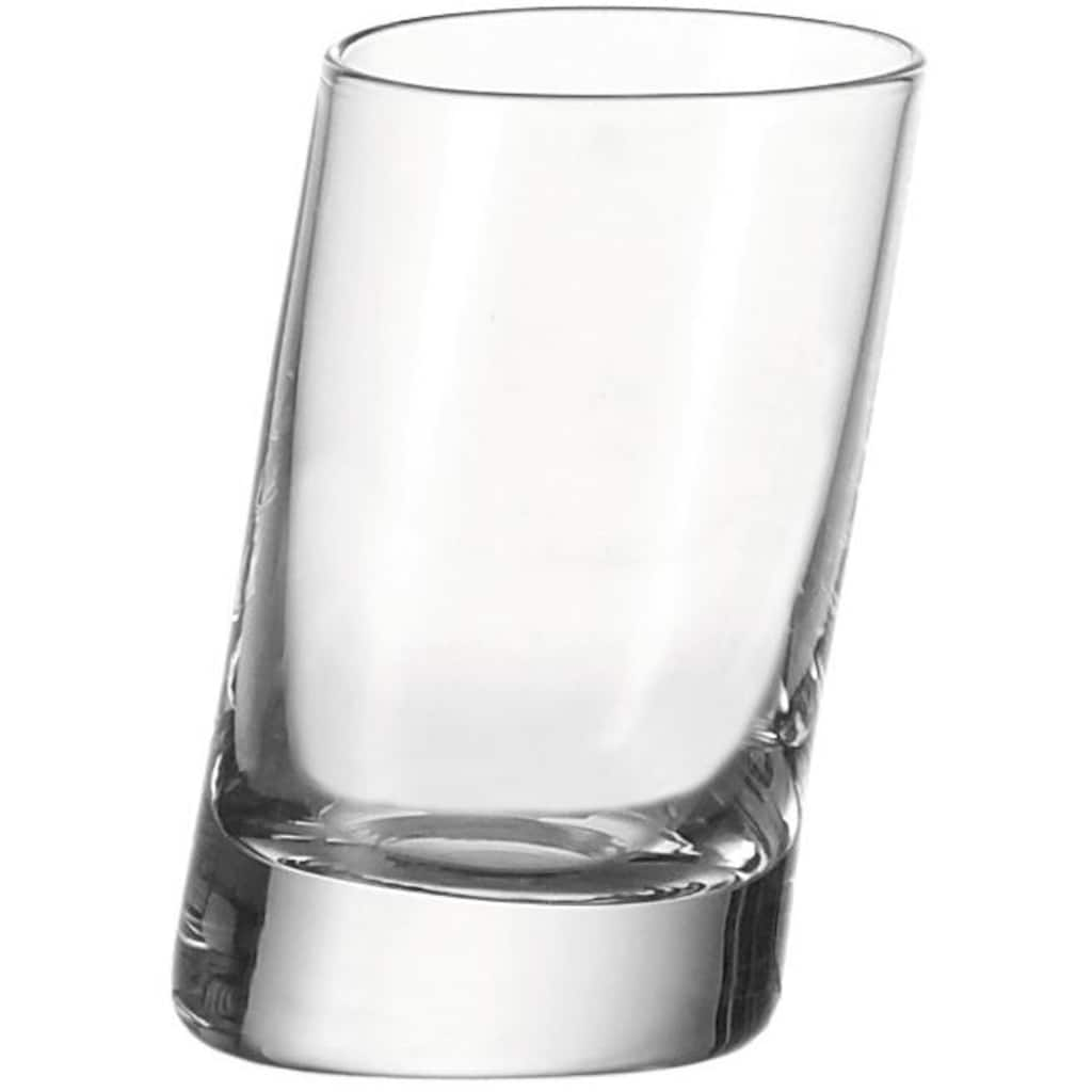 LEONARDO Schnapsglas »PISA«, (Set, 6 tlg.), sehr starker Glasboden, 6-teilig