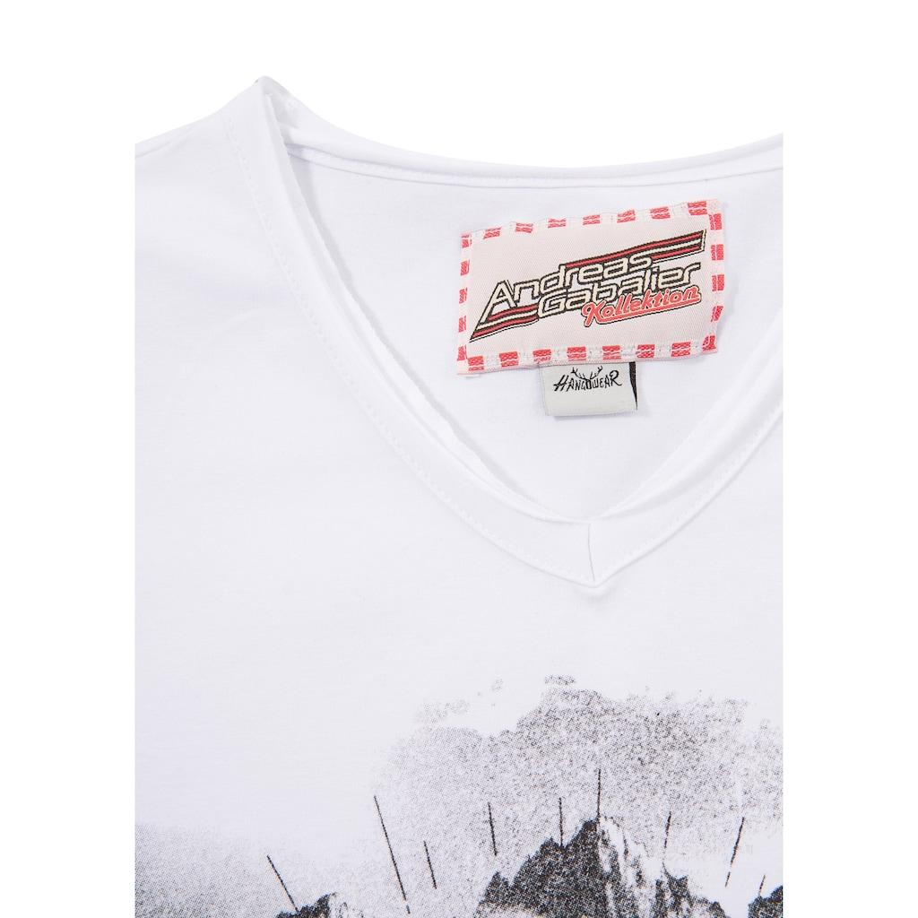 Andreas Gabalier Kollektion Trachtenshirt, Herren mit coolem Printmotiv
