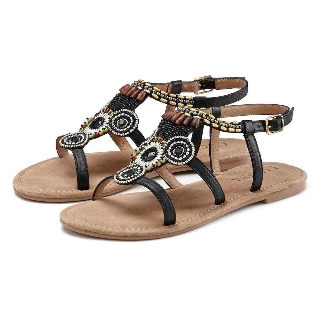 LASCANA Sandale, aus Leder