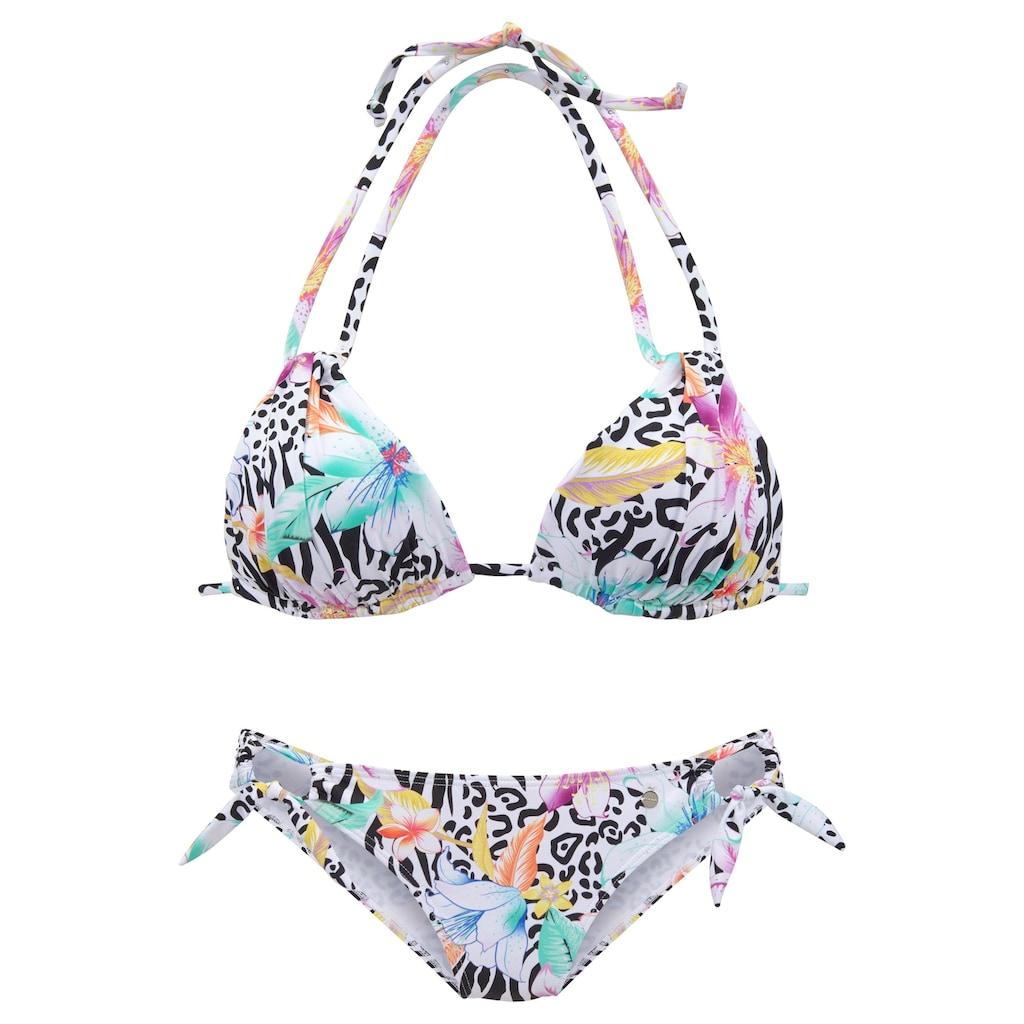 LASCANA Triangel-Bikini, mit trendigem Animalprint