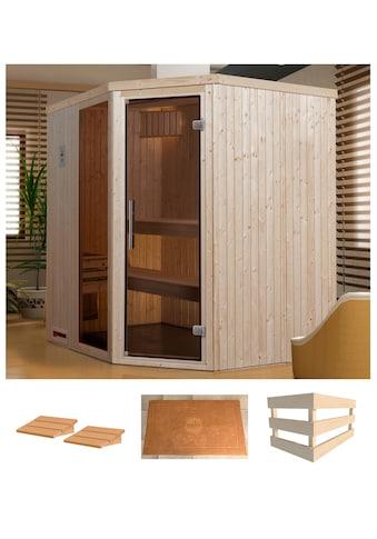 WEKA Sauna »Varberg 2«, 194x177x199 cm, ohne Ofen, Glastür, Fenster kaufen