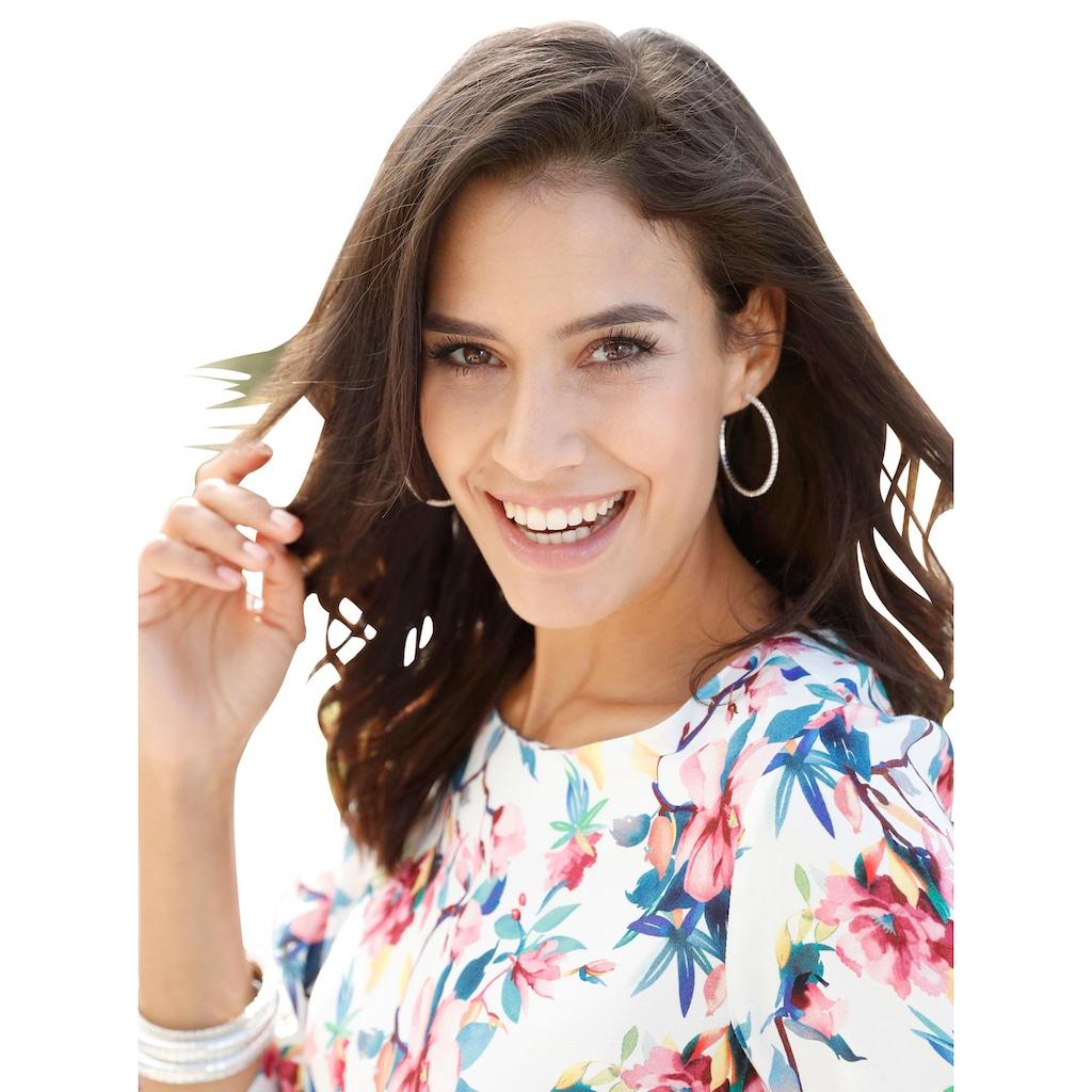 Alessa W. Bluse im brillanten digitalen Blüten-Dessin