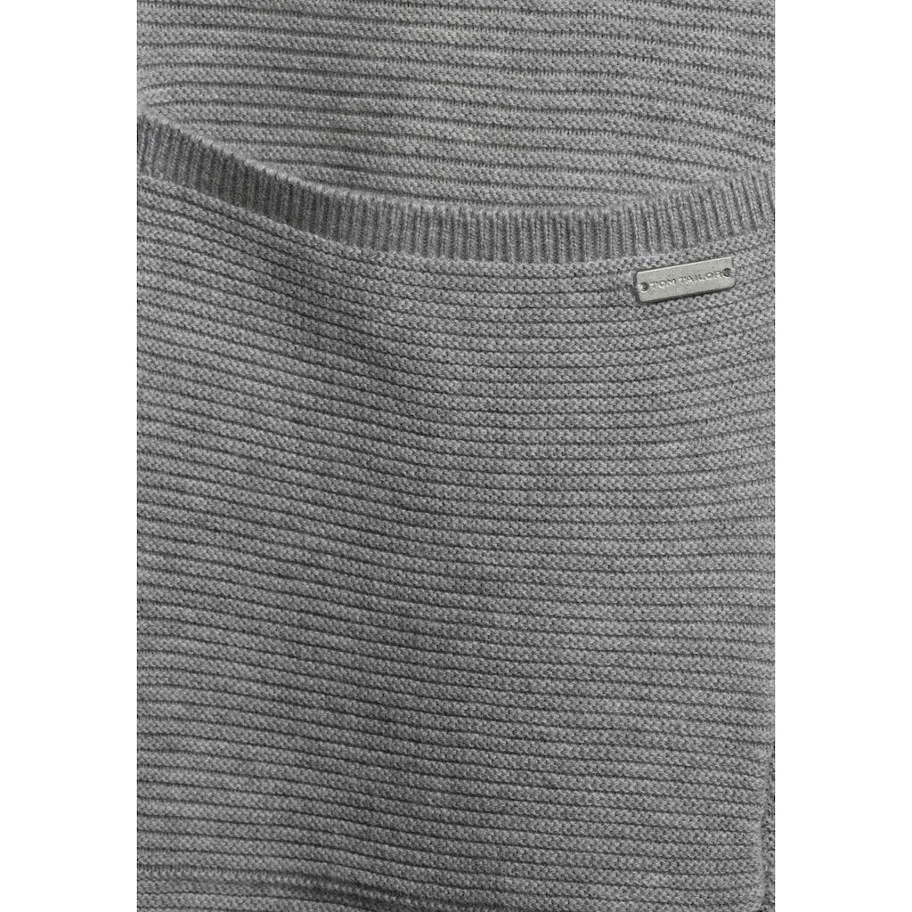 TOM TAILOR Strickjacke, ohne Verschluss und mit aufgesetzten Taschen