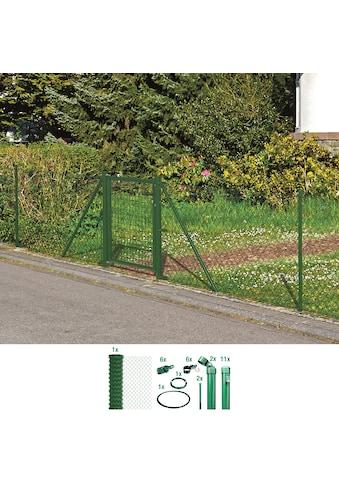 GAH Alberts Maschendrahtzaun, 100 cm hoch, 25 m, grün beschichtet, zum Einbetonieren kaufen