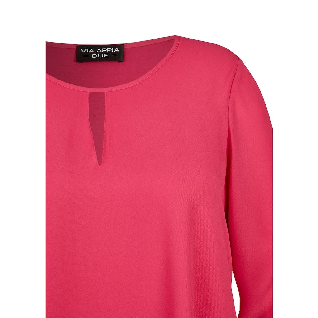 VIA APPIA DUE Raffinierte Bluse mit V-Detail Plus Size