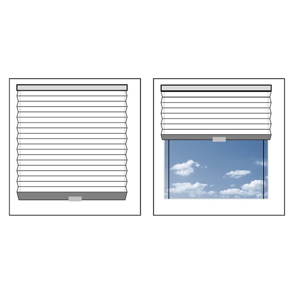 Good Life Dachfensterplissee nach Maß »Dena«, Lichtschutz, mit Bohren, verspannt, Schienenfarbe in silber