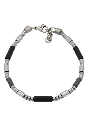 Firetti Armband »Walzen, matt und poliert, massiv«, mit Onyx und Hämatit, Made in Germany kaufen
