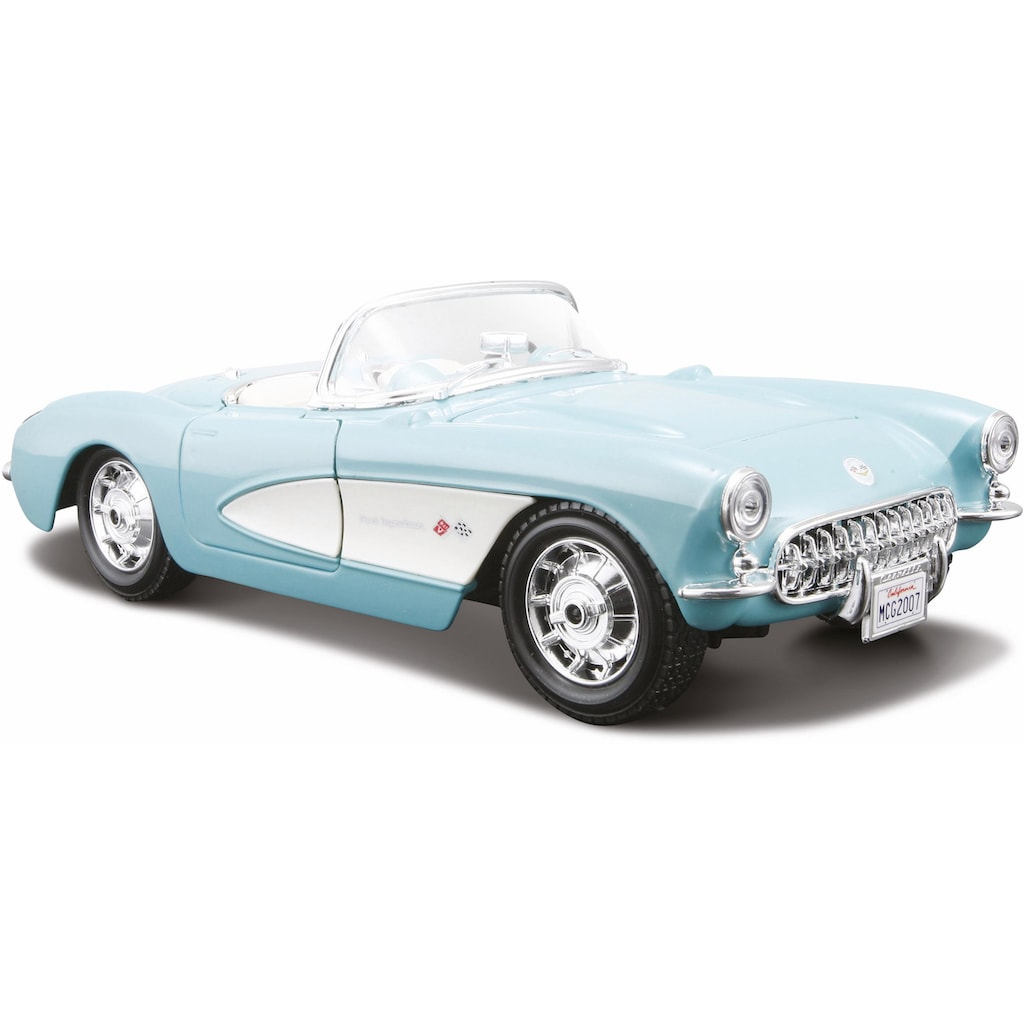 Maisto® Sammlerauto »Chevrolet Corvette '57, 1:24, türkis«, 1:24, aus Metallspritzguss