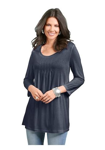 Classic Basics Shirttunika mit dekorativer Faltenpartie am Ausschnitt kaufen