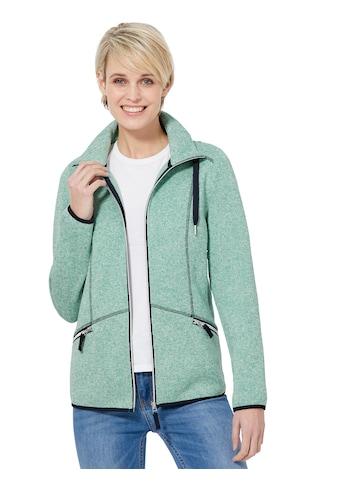 Casual Looks Fleece - Jacke mit kontrastfarbigen Ziernähten kaufen