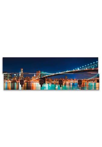 Artland Garderobenpaneel »New York Skyline Brooklyn Bridge«, platzsparende... kaufen