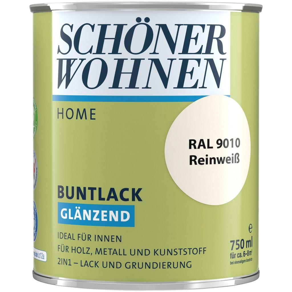 SCHÖNER WOHNEN-Kollektion Lack »Home Buntlack«, glänzend, 750 ml, reinweiß RAL 9010