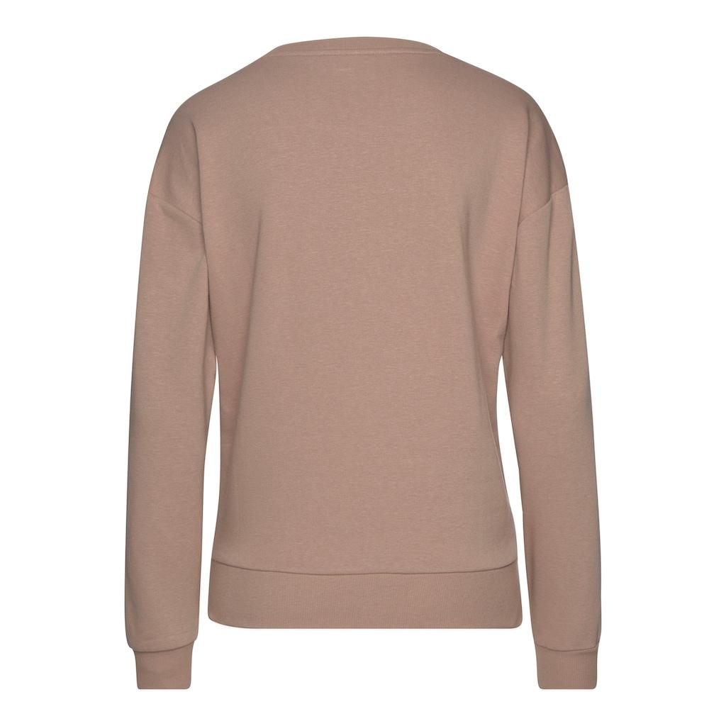 Bench. Sweatshirt, mit Labeldruck