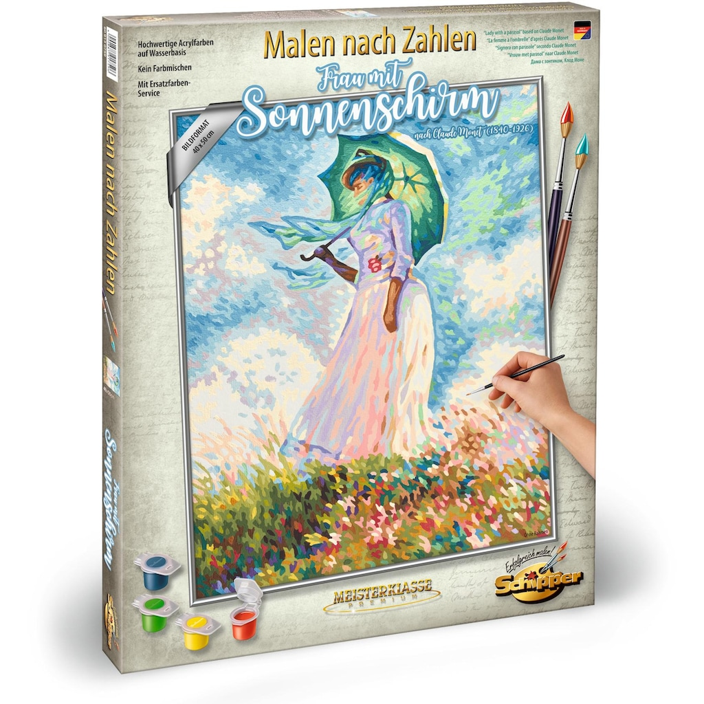 Schipper Malen nach Zahlen »Meisterklasse Premium, Frau mit Sonnenschirm«, Made in Germany