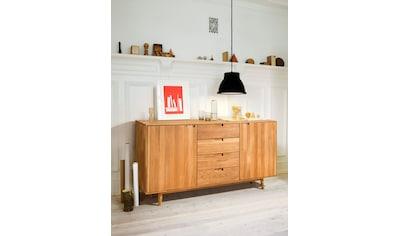 Home affaire Kommode »Scandi«, aus massivem Eichenholz, mit sehr viel Stauraum, Breite... kaufen