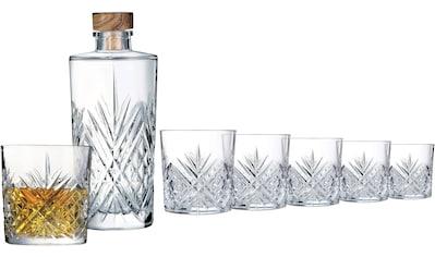 Leonique Whiskyglas »Mirka«, (Set, 7 tlg., 6 Whiskybecher-1 Karaffe), Whisky-Set (6... kaufen