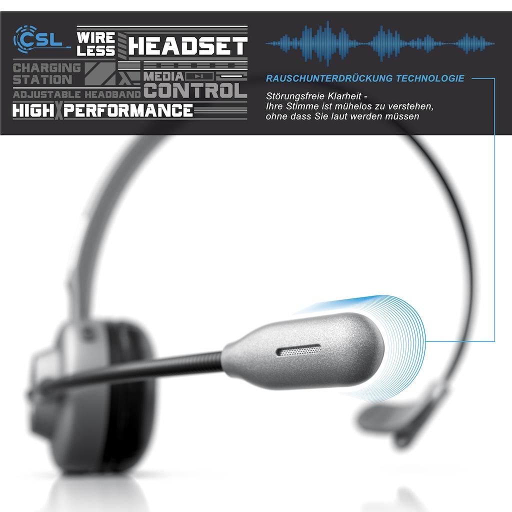 CSL Headset »Kopfhörer mit flexiblem Mikrofon«, A2DP Bluetooth-Bluetooth, Rauschunterdrückung