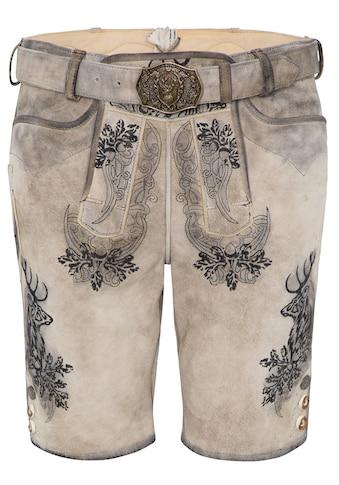 Spieth & Wensky Lederhose Elvis kurz 45 cm kaufen