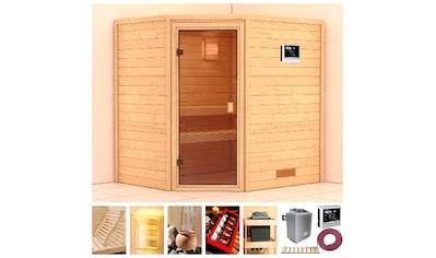 KARIBU Sauna »Langeoog«, 196x170x198 cm, 9 kW Ofen mit ext. Steuerung kaufen