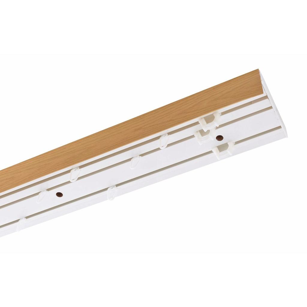 GARESA Schienensystem »Leiste mit Blende«, 3 läufig-läufig, Wunschmaßlänge
