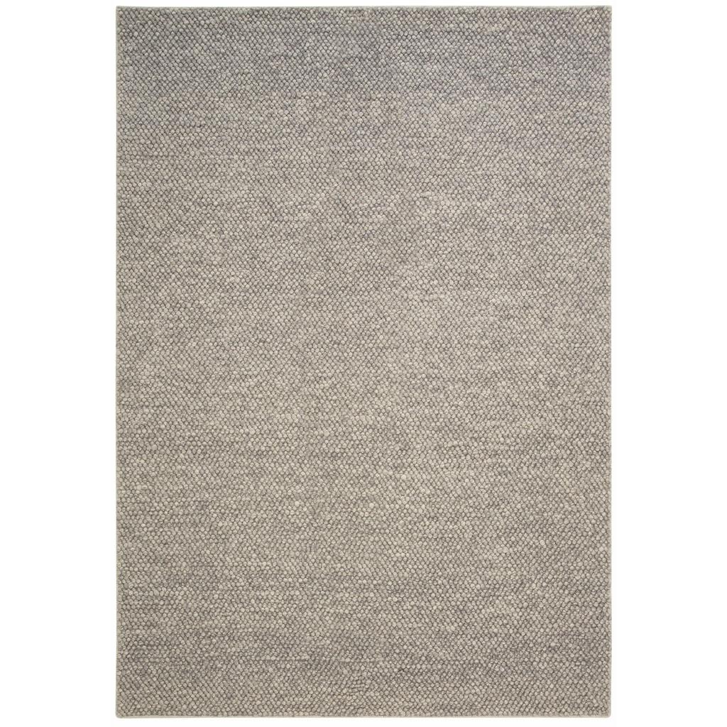 my home Wollteppich »Wolly«, rechteckig, 14 mm Höhe, reine Wolle, Woll-Optik, Wohnzimmer