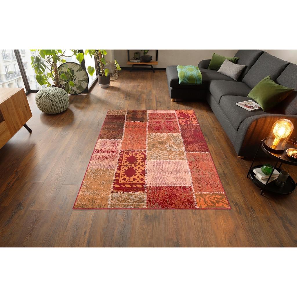 Home affaire Teppich »Garry«, rechteckig, 7 mm Höhe, Vintage Design, Wohnzimmer