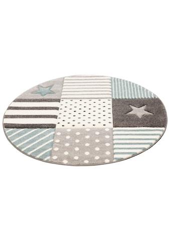 Lüttenhütt Kinderteppich »Stern«, rund, 13 mm Höhe, handgearbeiteter Konturenschnitt,... kaufen