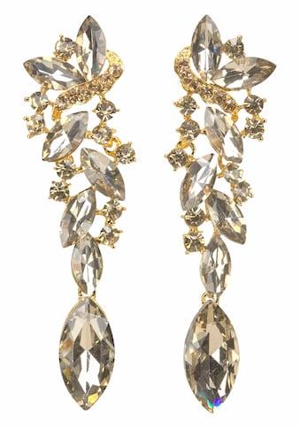 J.Jayz Paar Ohrstecker »Glamour-Look«, (1 tlg.), mit großen funkelnden Glassteinen kaufen
