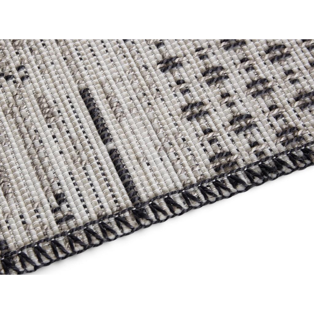 ELLE DECORATION Teppich »Agen«, rechteckig, 3 mm Höhe, In- und Outdoorgeeignet, Wohnzimmer