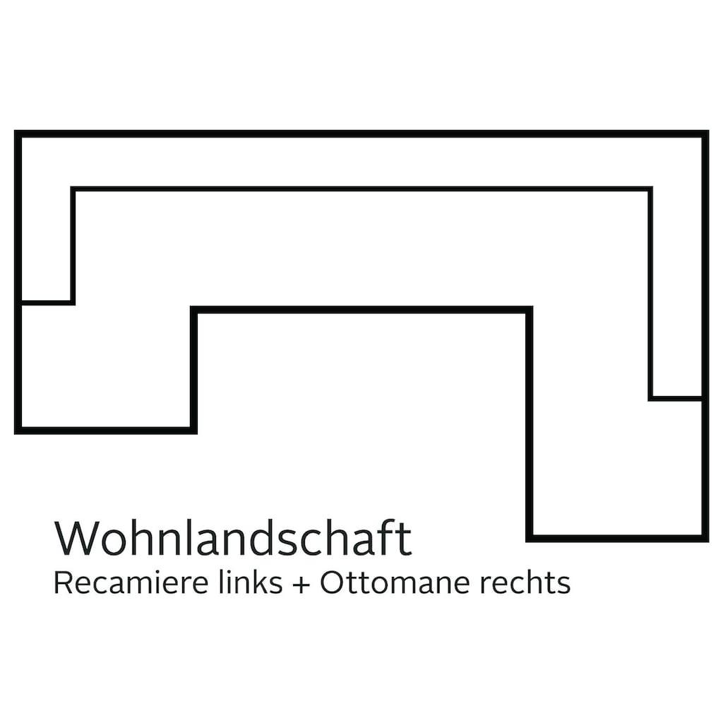 DOMO collection Wohnlandschaft »Santana«, wahlweise mit Bettfunktion