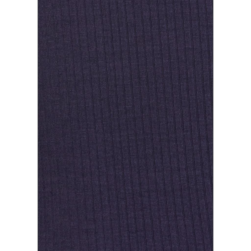 LASCANA Trägertop, in geripptem Material mit Rundhalsausschnitt